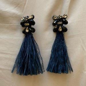 Stella & Dot French Twist Feather Earrings